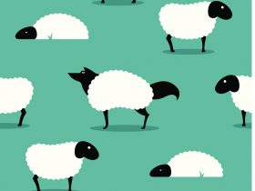 wolf-in-sheeps-clothing-seamless-background-idiom-vector-id135520301